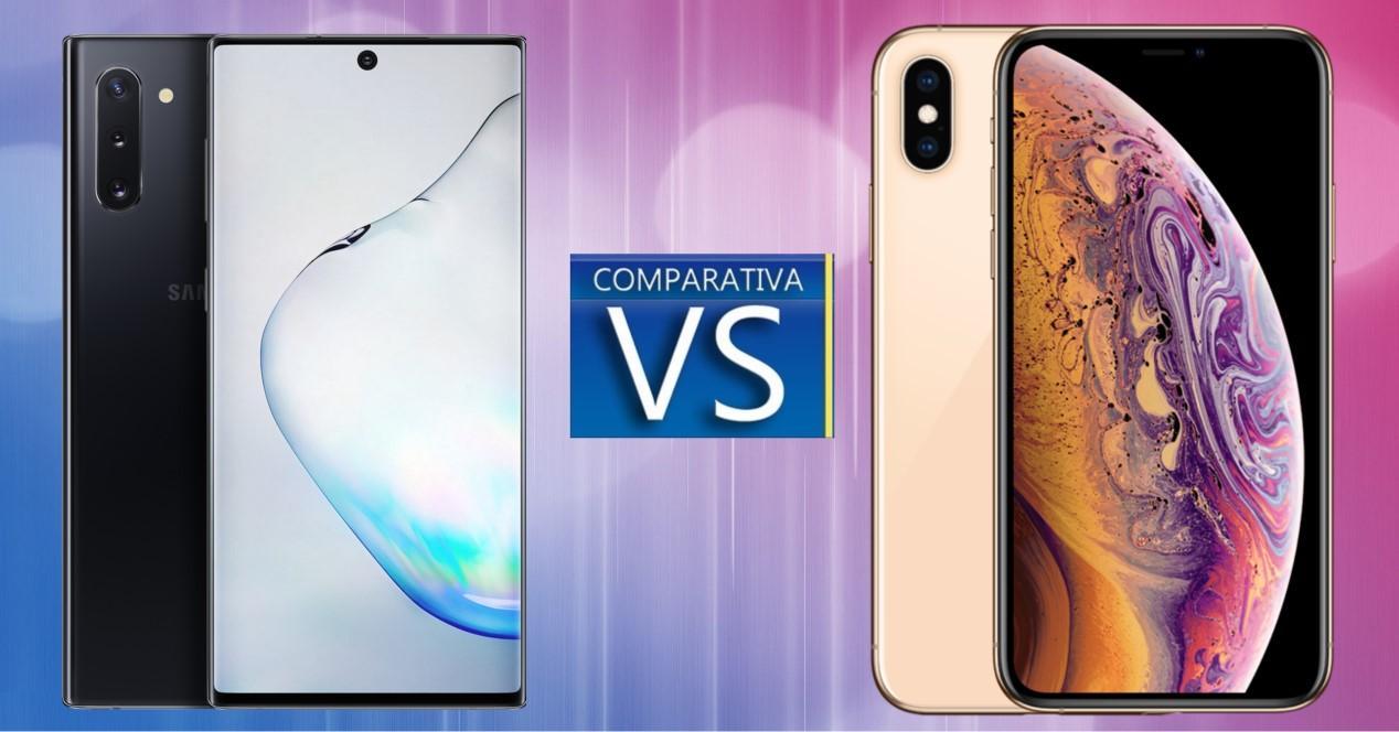 Galaxy Note 10 vs iPhone XS