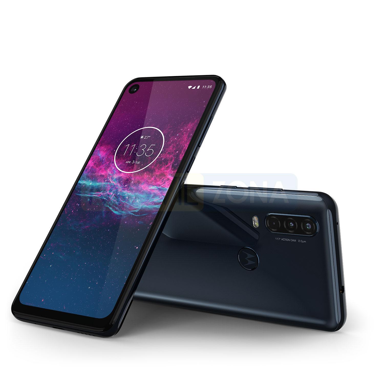 Motorola One Action frontal y cámara