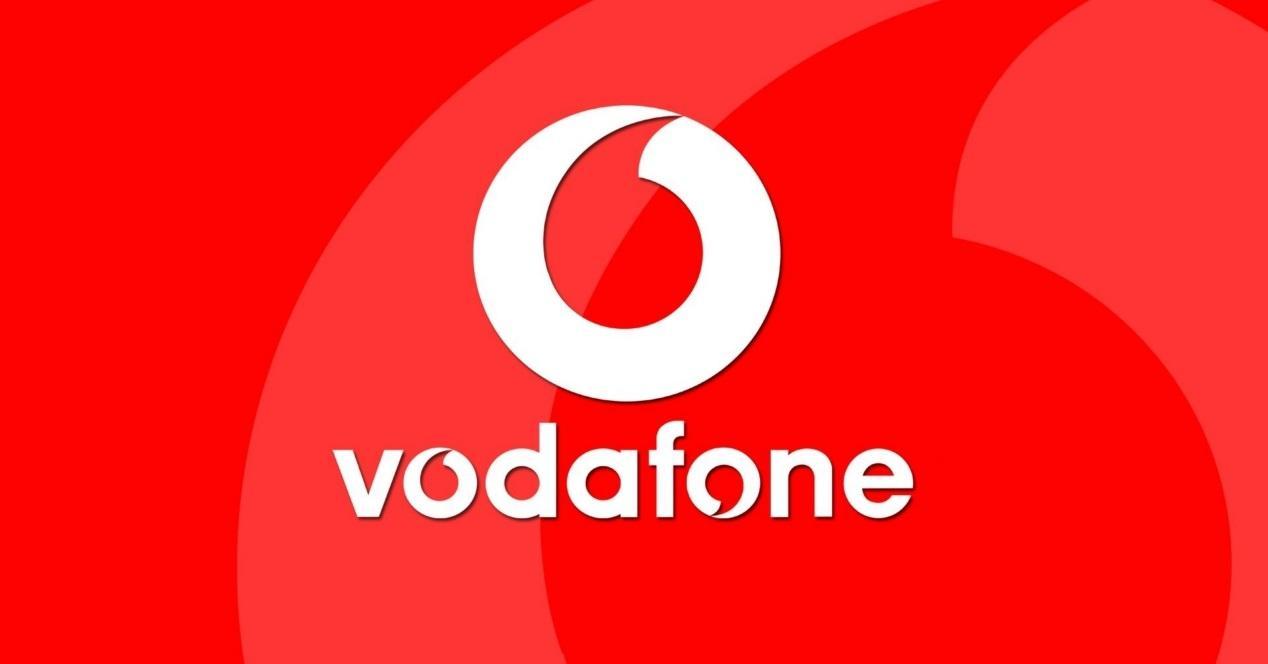Vodafone logo fondo rojo