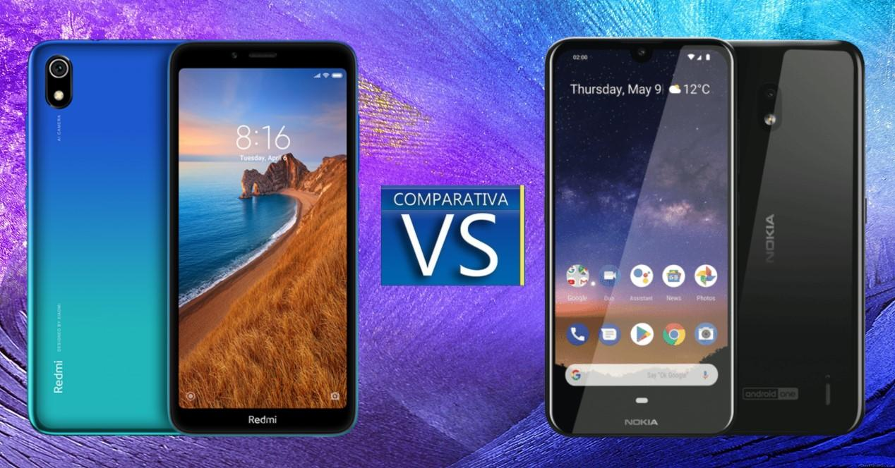 Xiaomi Redmi 7A vs nokia 2.2
