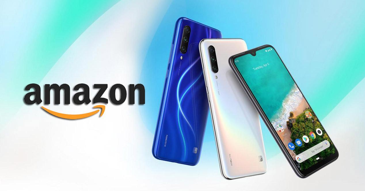 Xiaomi Mi A3 en colores azul y blanco