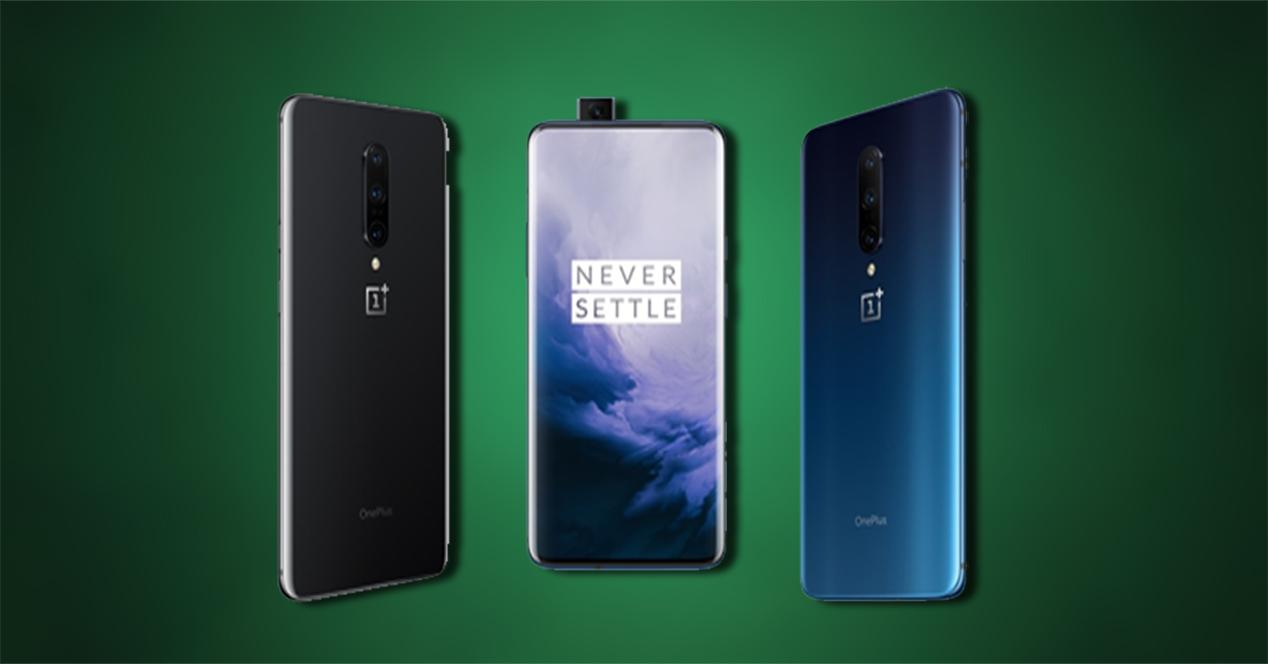 OnePlus 7 Pro frontal y trasera