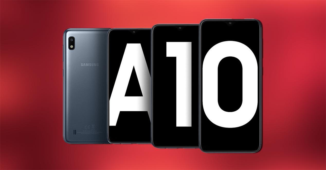 Frontal y trasera del Samsung Galaxy A10