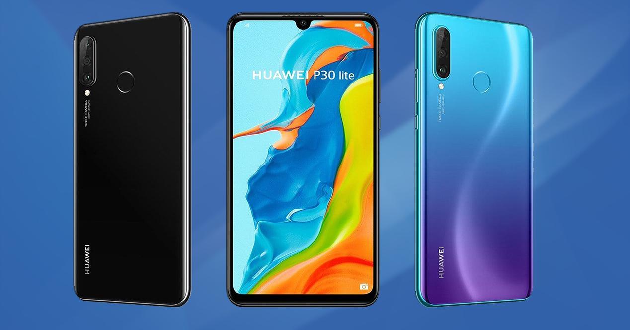 Frontal y trasera en dos colores del Huawei P30 Lite