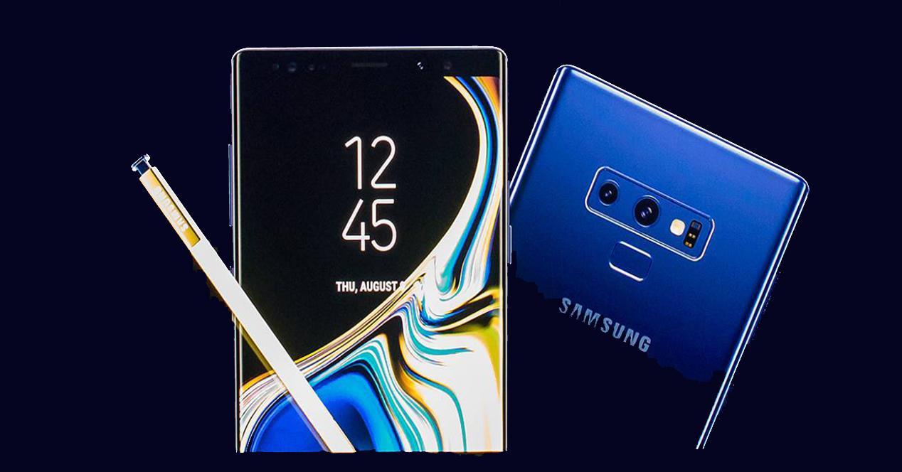 Samsung Galaxy Note 9 en color azul con S-Pen