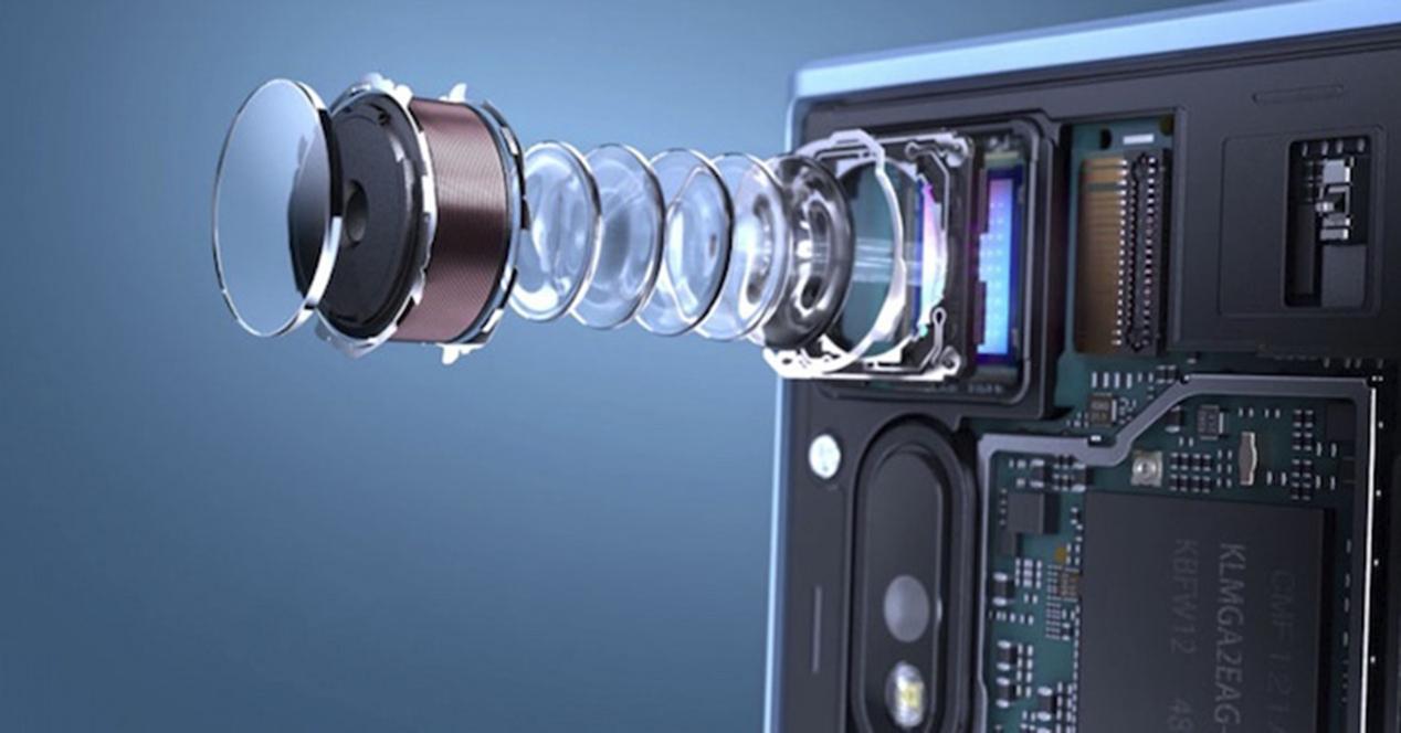imagen de un sensor de fotografia móvil