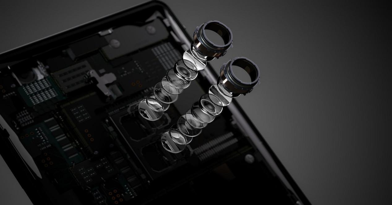 sistema de lentes de cámaras traseras