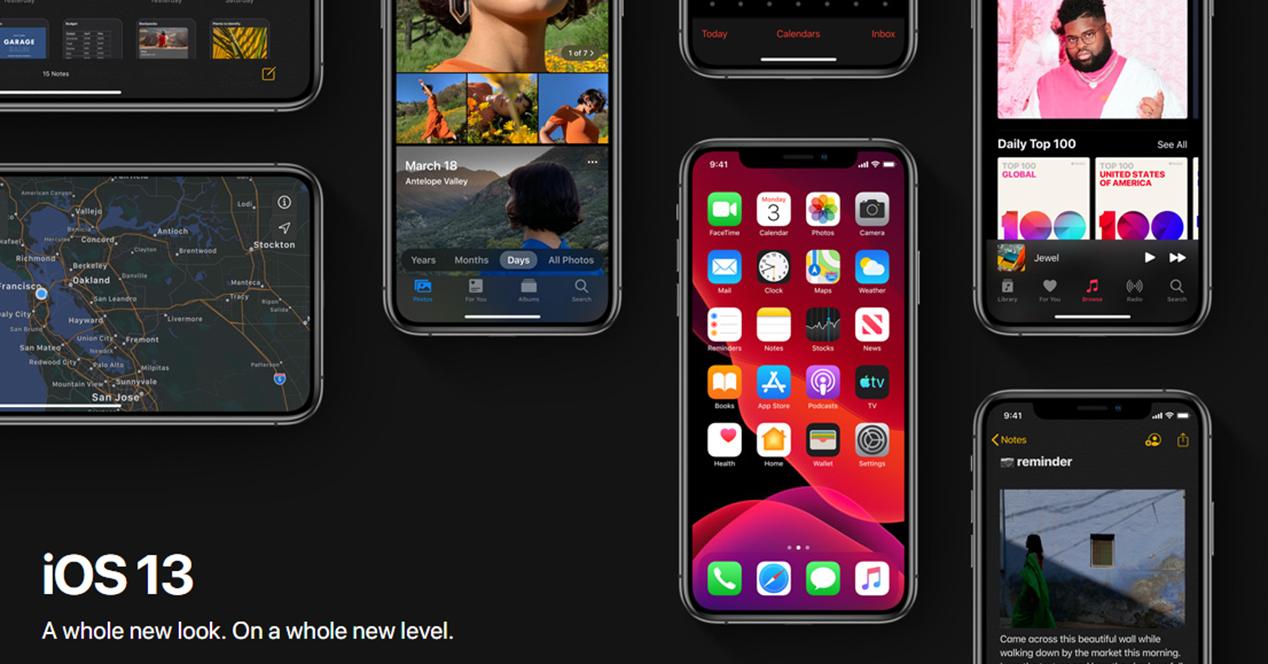 imágenes de escritorio del nuevo iOS 13 de Apple