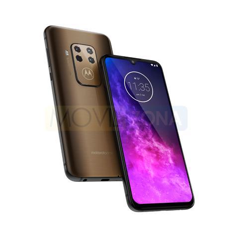Motorola One Zoom frontal y cámara