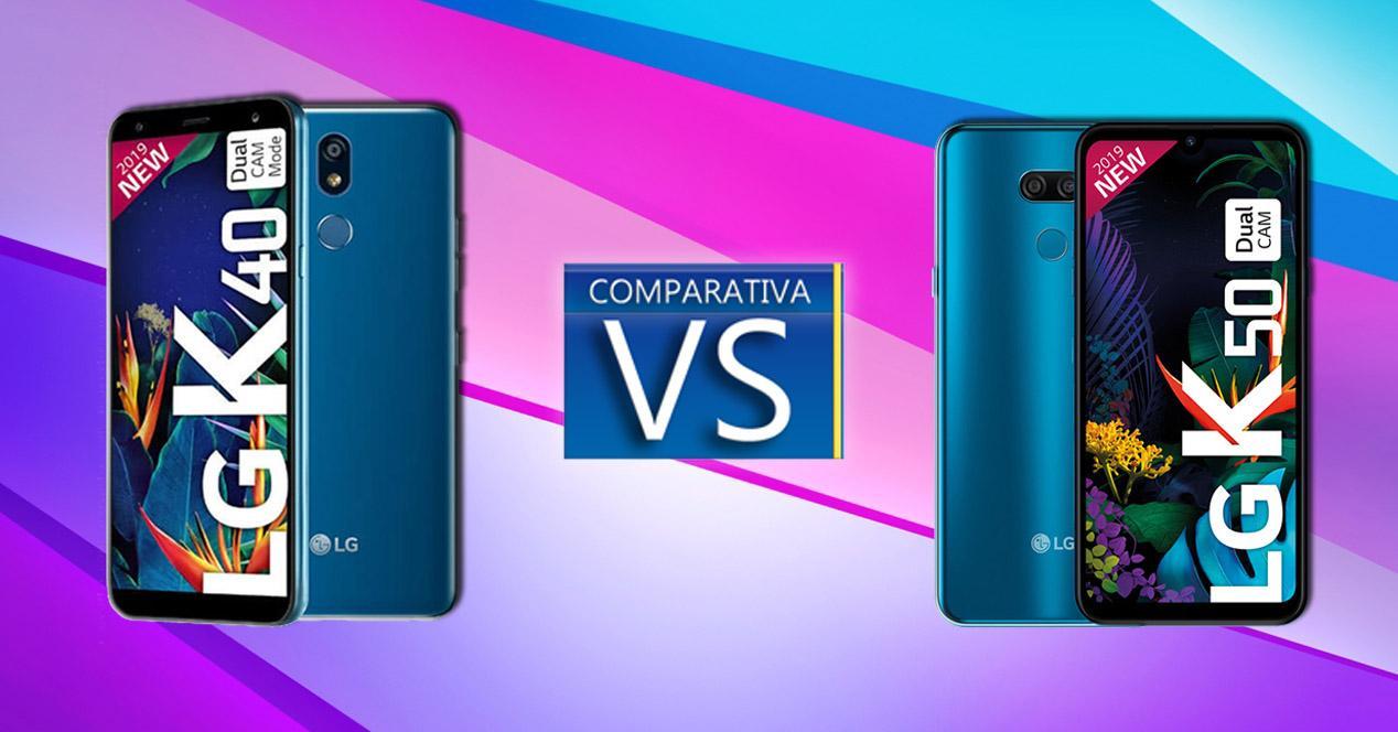 LG K40 Vs LG K50