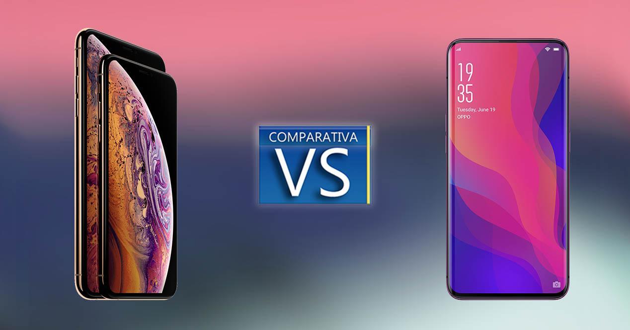 Comparativa iPhone XS Max vs OPPO Find X