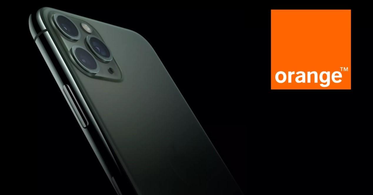 iPhone 11 con Orange