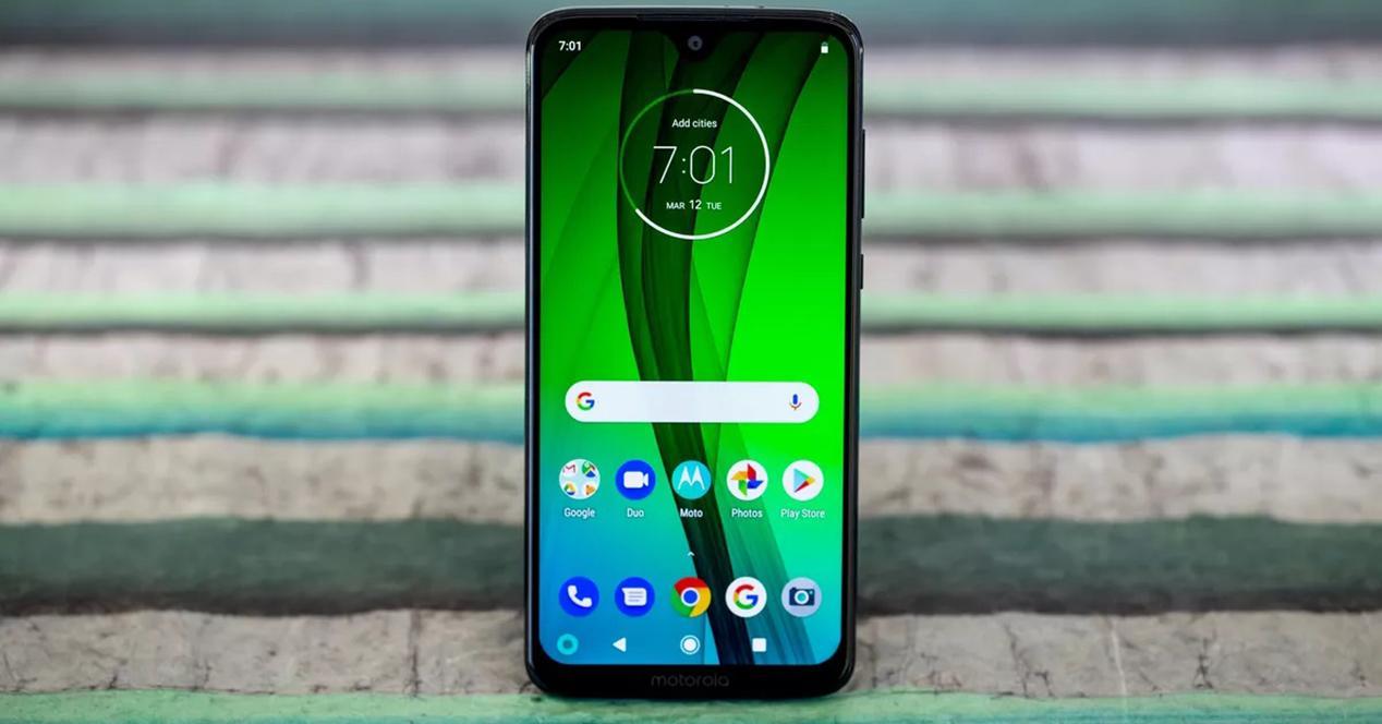 Frontal Motorola Moto G7