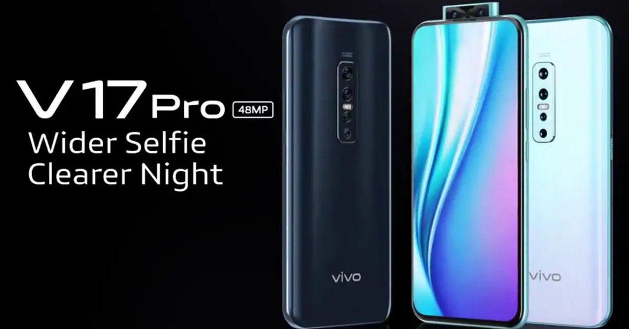 Cartel anunciador del Vivo V17 Pro