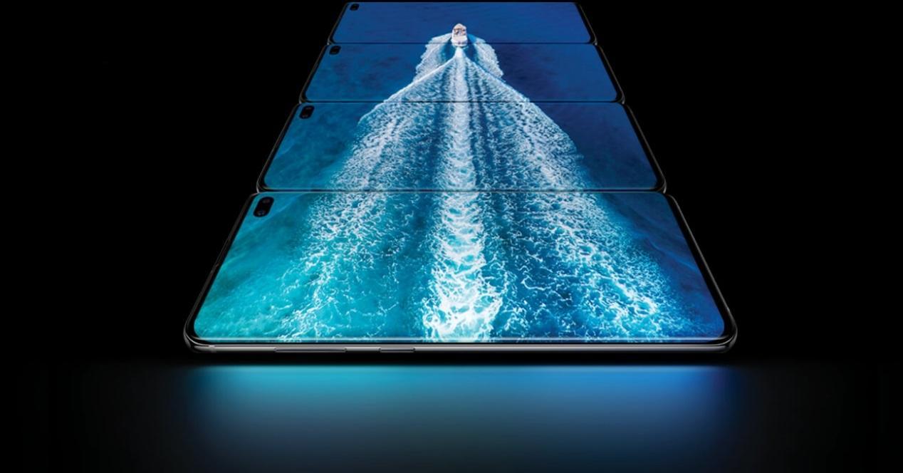 Galaxy S10 Plus varias pantallas