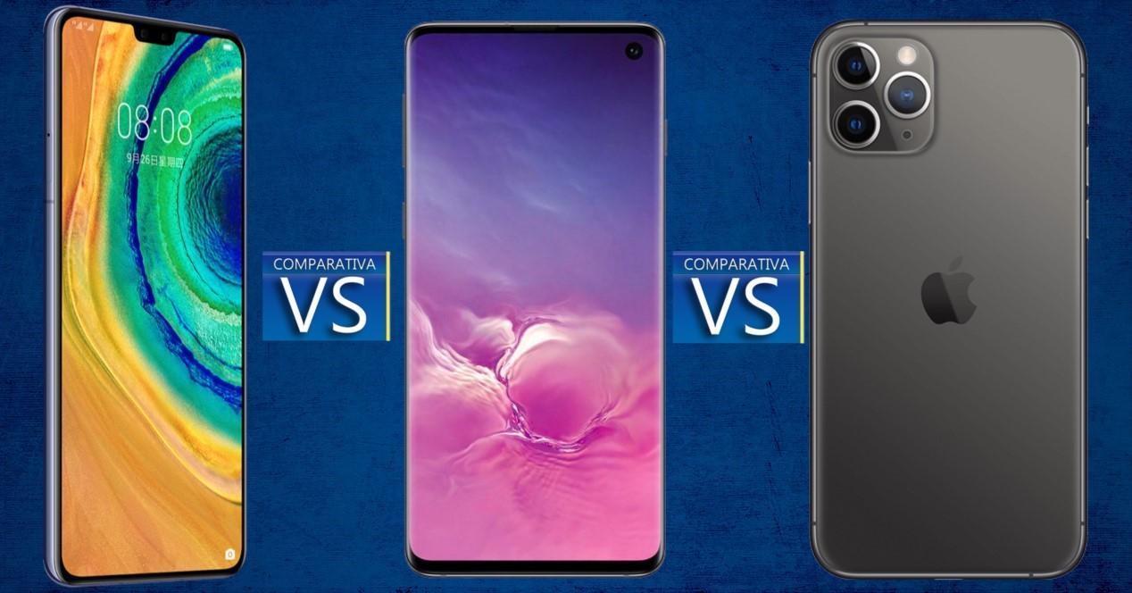 Huawei Mate 30 vs Galaxy S10 vs iPhone 11 Pro