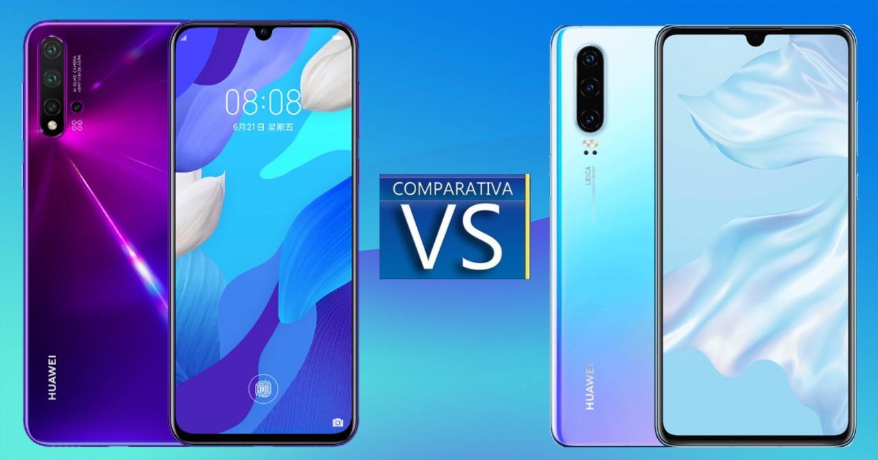 Huawei Nova 5T vs Huawei P30
