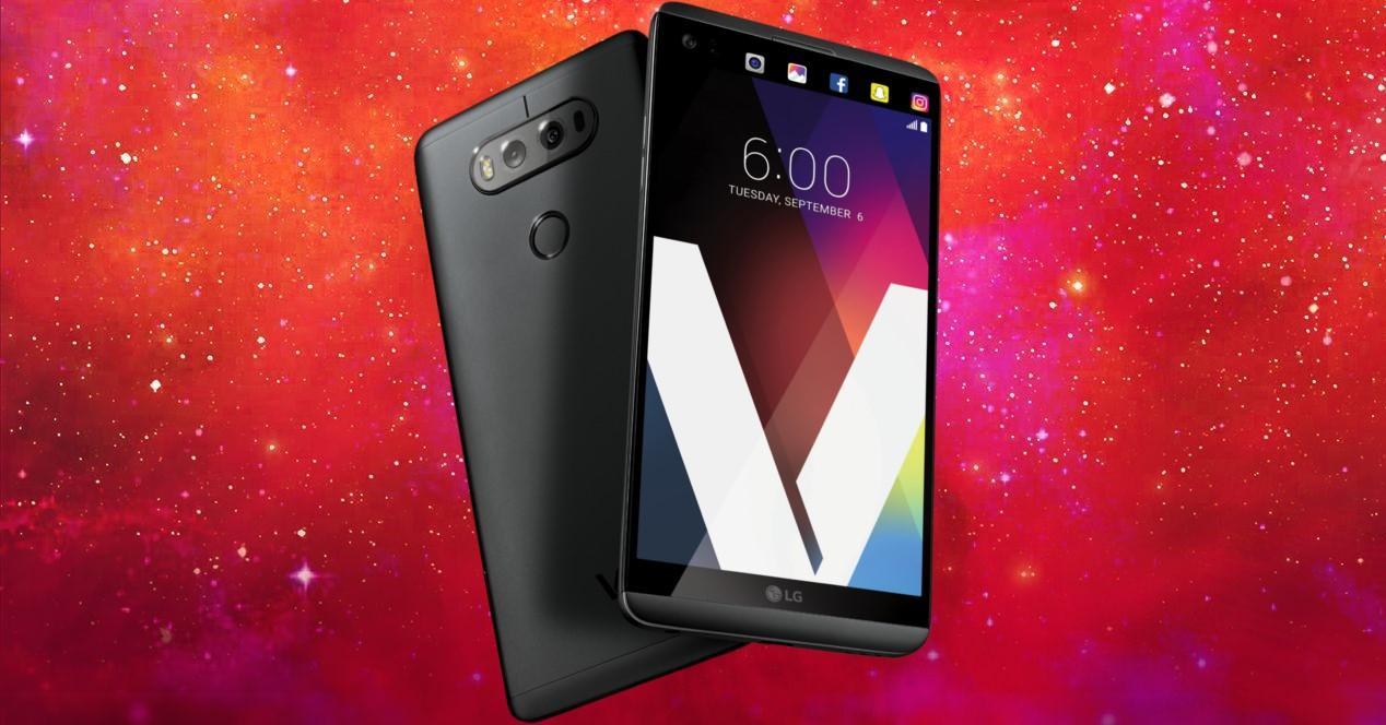 LG V20 fondo estrellas