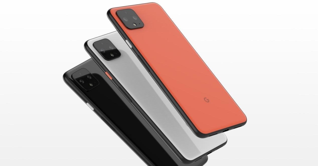Pixel 4 concepto colores