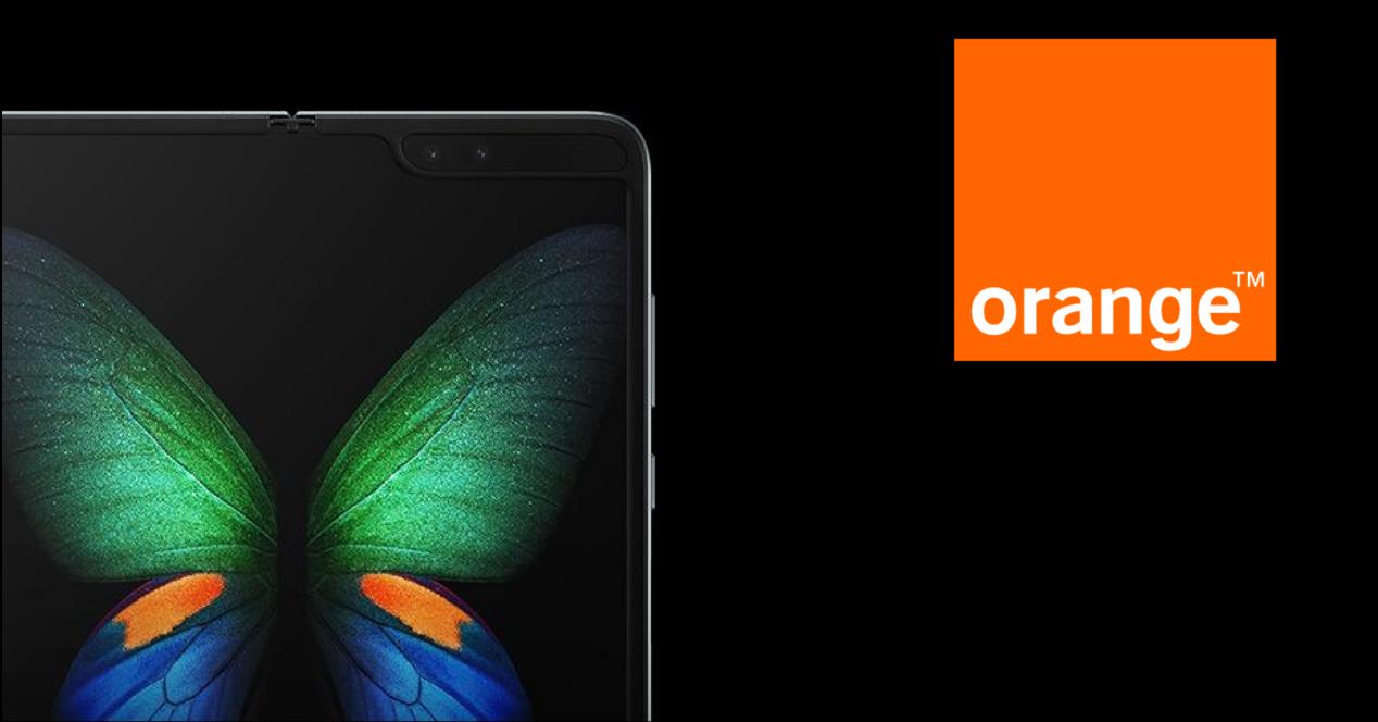Samsung Galaxy Fold con Orange