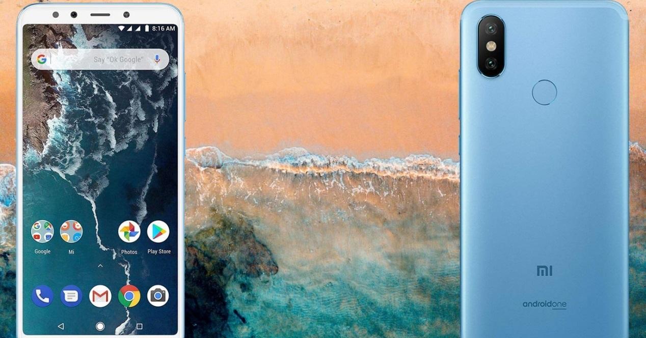 Xiaomi Mi A2 playa fondo