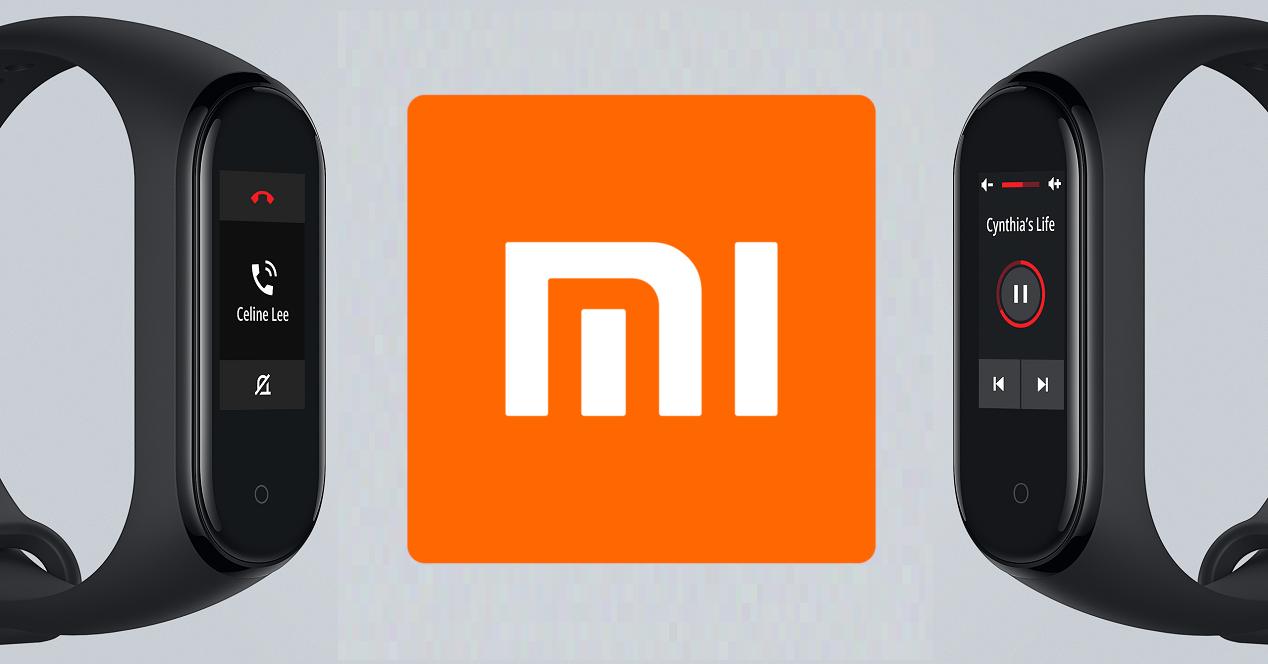 Xiaomi Mi Band 4 logo Xiaomi