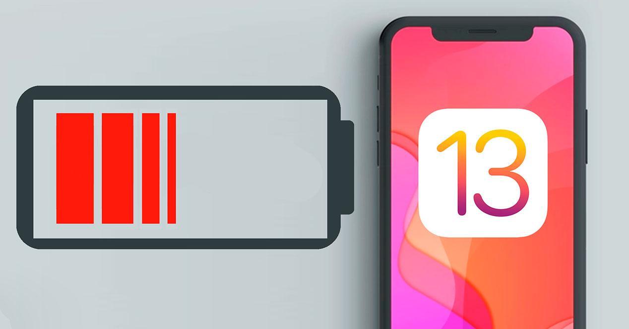 bateria iOS 13