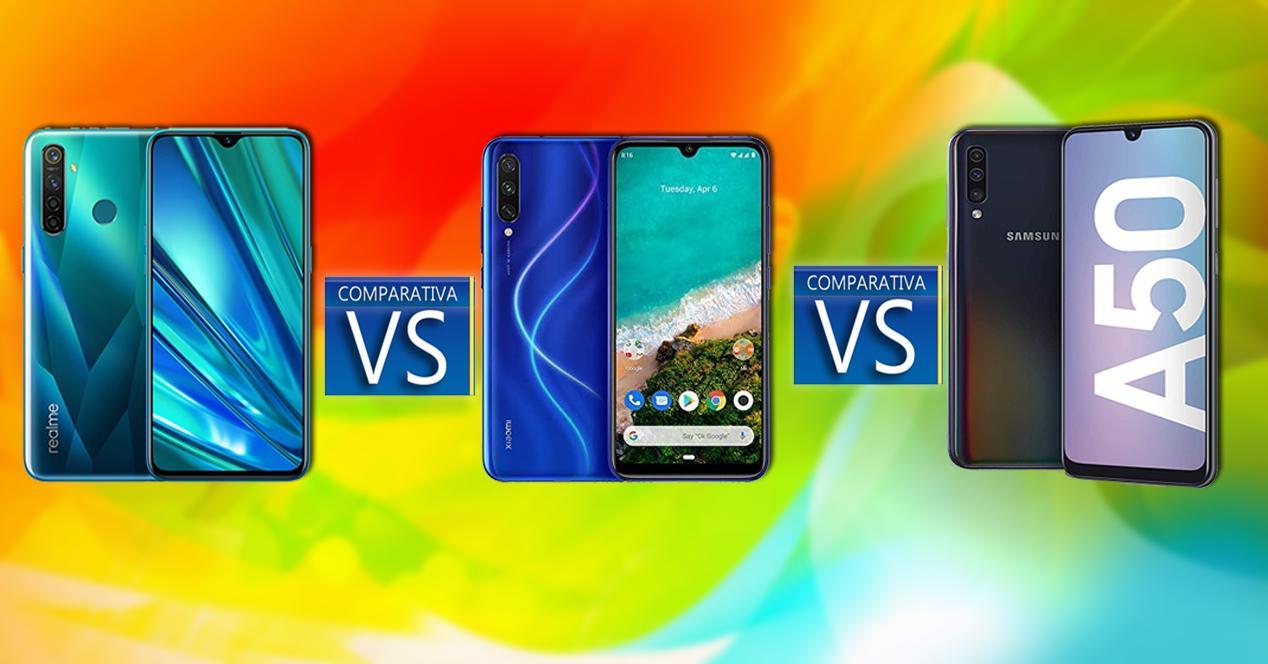 realme 5 Pro vs Mi A3 vs Galaxy A50