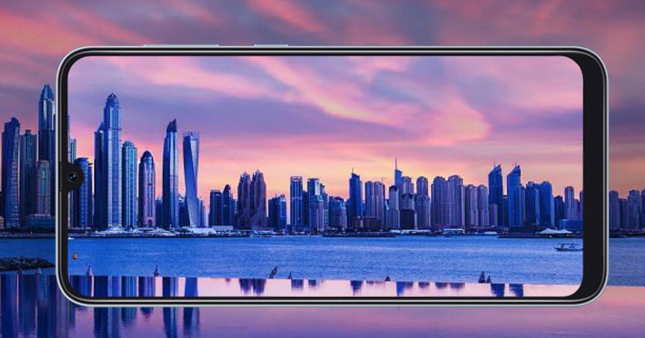 Samsung Galaxy A50, frontal