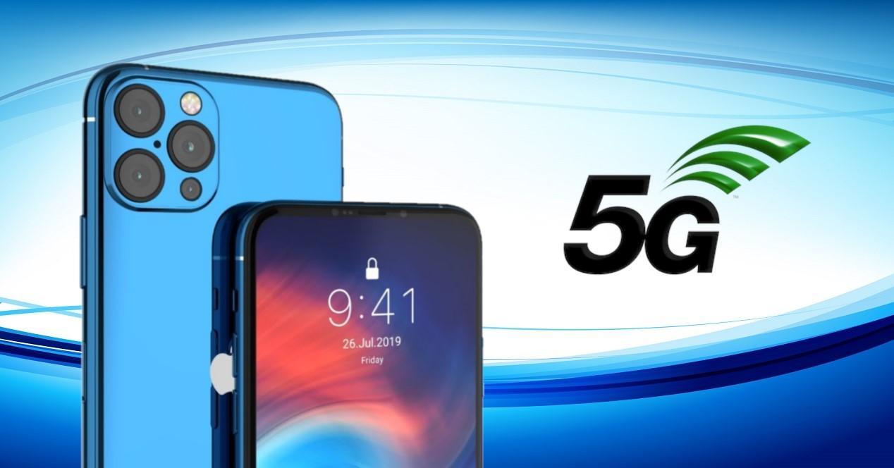 iPhone 12 con 5G concepto