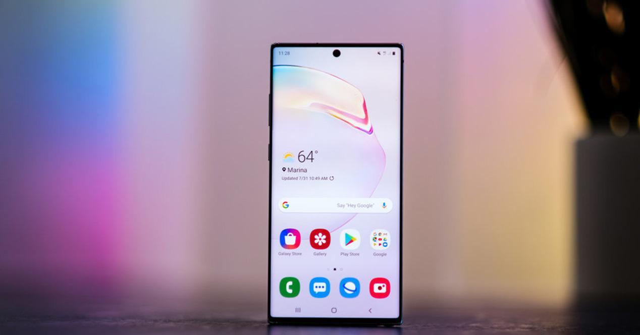Frontal samsung Galaxy Note 10