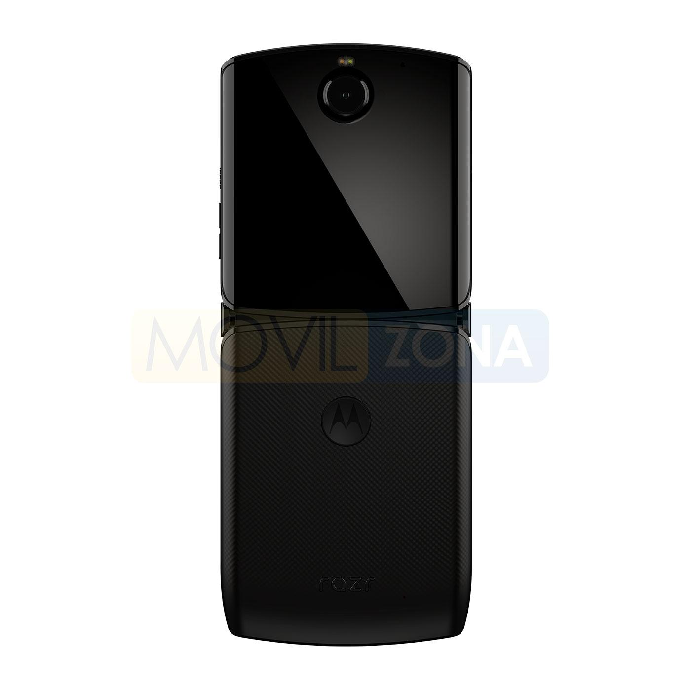 Motorola Razr 2019 negro trasera