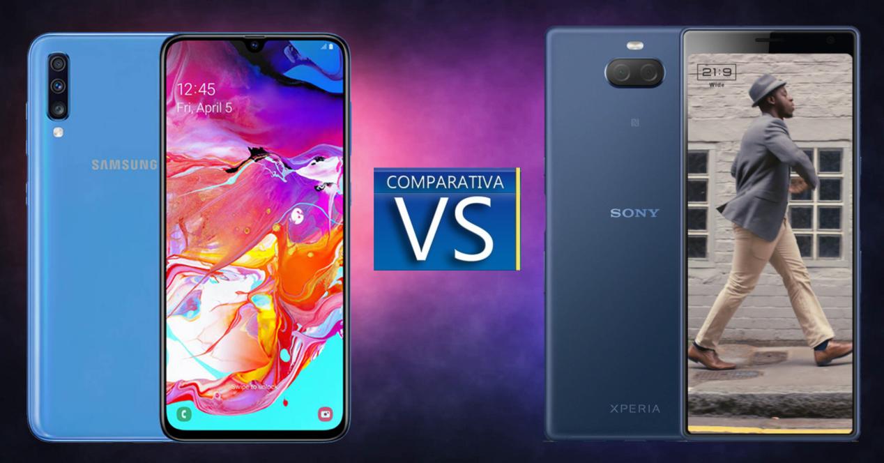 Samsung Galaxy A70 vs Sony Xperia 10 Plus