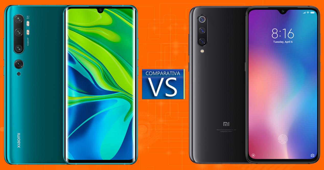 Xiaomi Mi Note 10 vs Xiaomi Mi 9