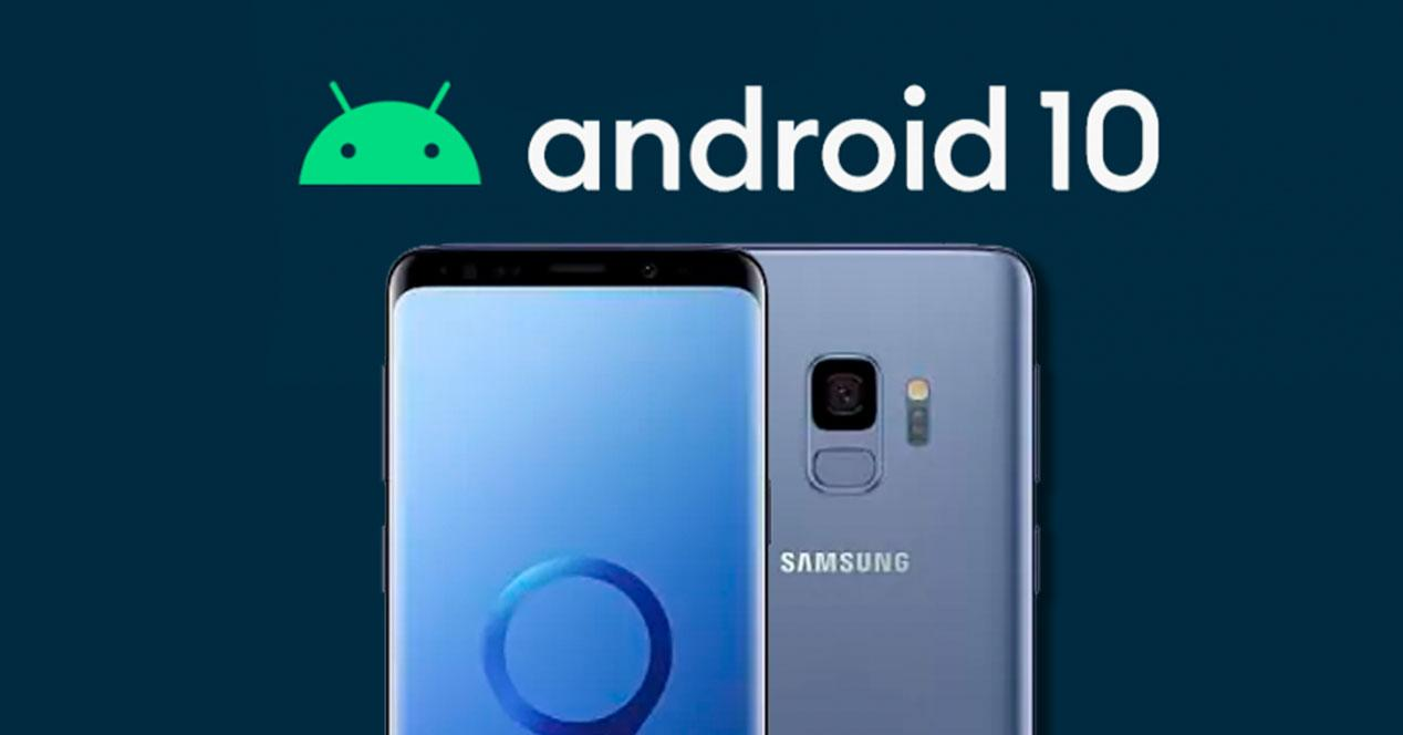android 10 galaxy s9
