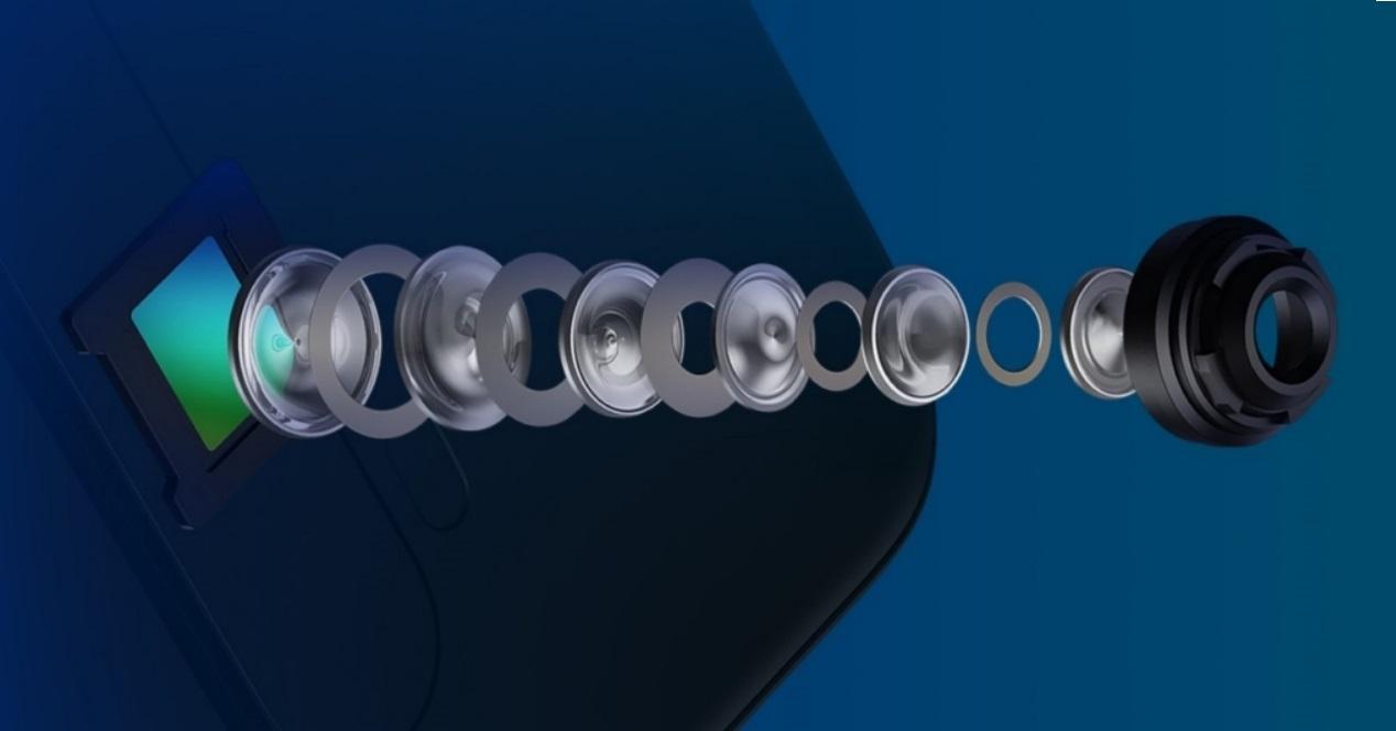 camara lente montaje