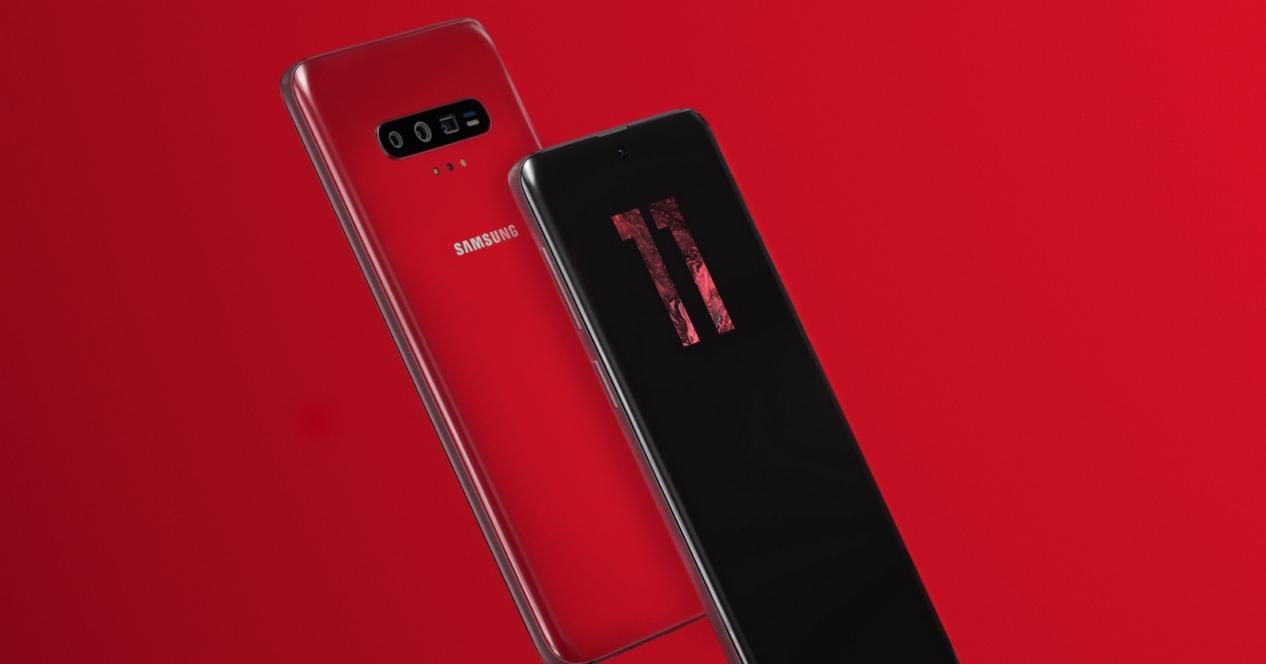 Samsung galaxy s11 concepto rojo