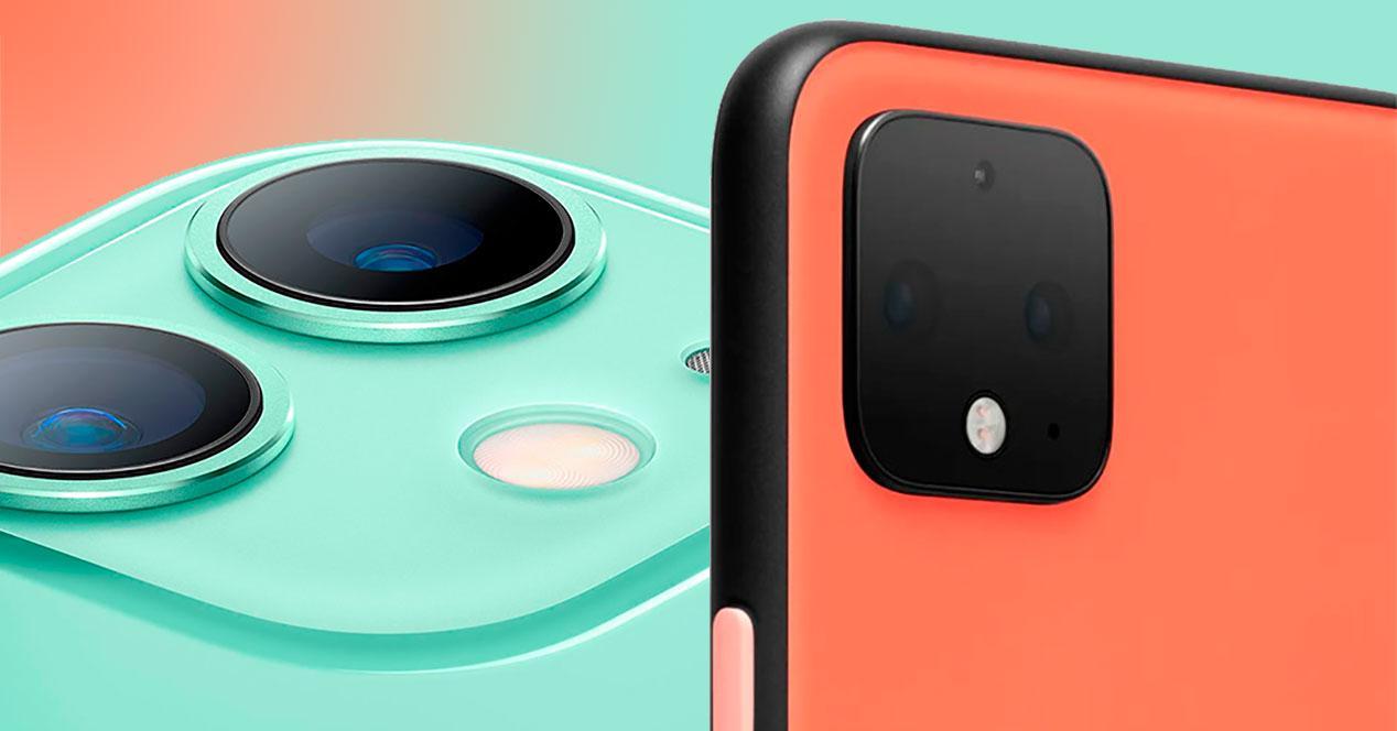 Comparativa iPhone 11 Pixel 4 XL