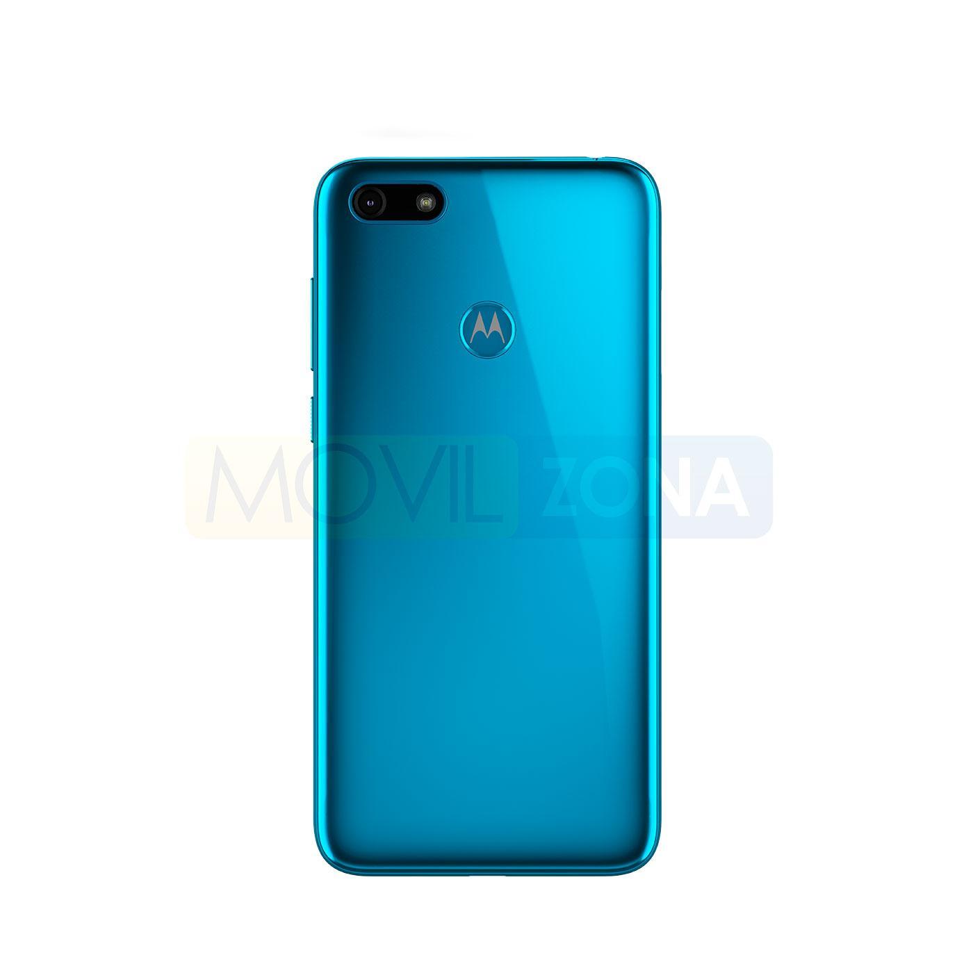 Motorola Moto E6 Play trasera azul