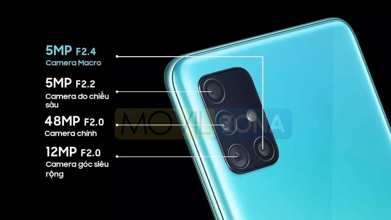 Samsung Galaxy A51 cámara