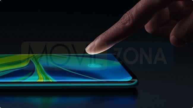 Xiaomi Mi Note 10 Pro huella