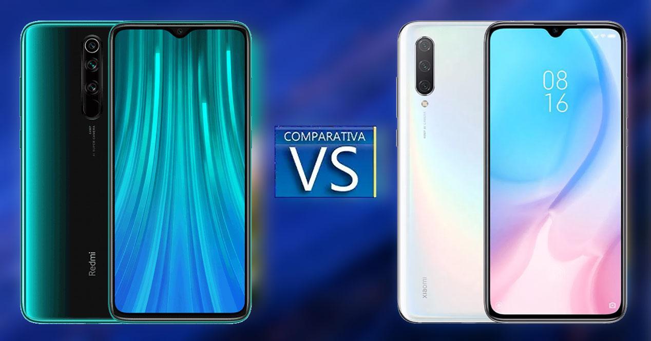 Comparativa entre el Redmi Note 8 Pro y el Xiaomi Mi 9 Lite.