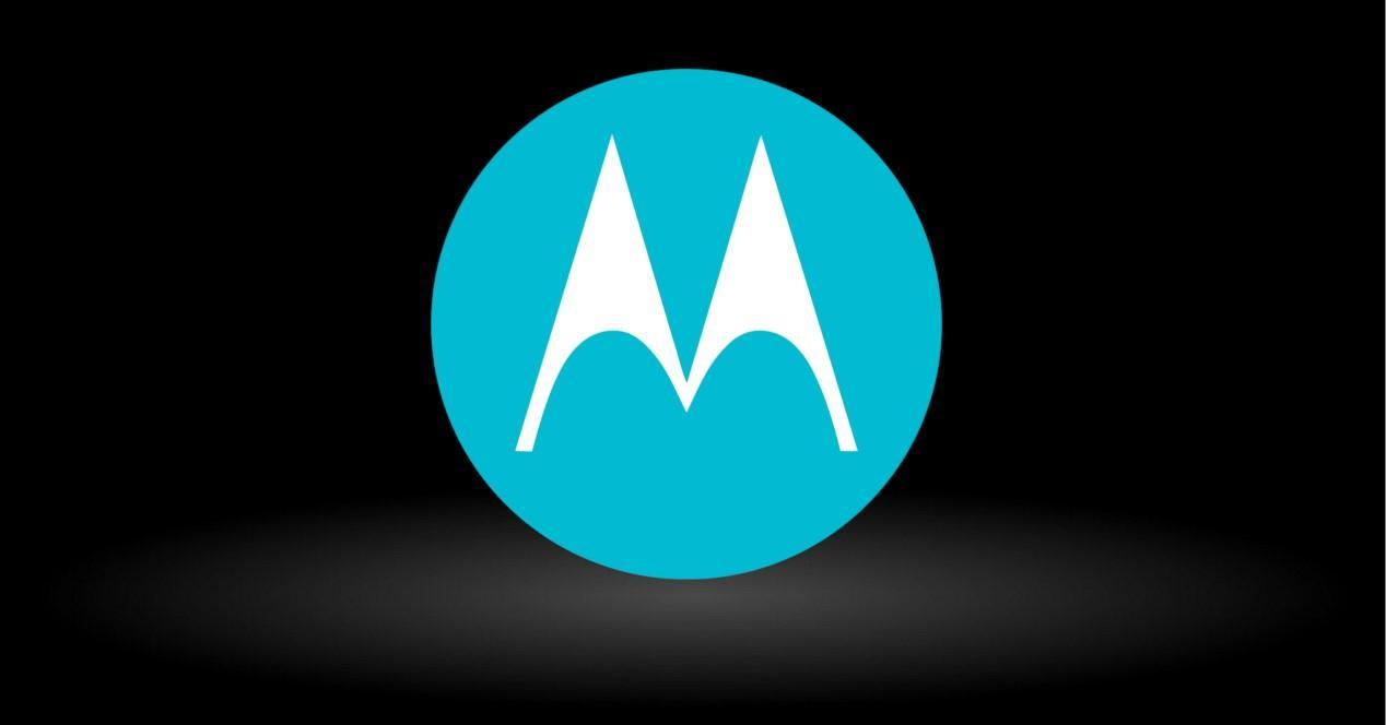 Motorola logo sobre fondo negro