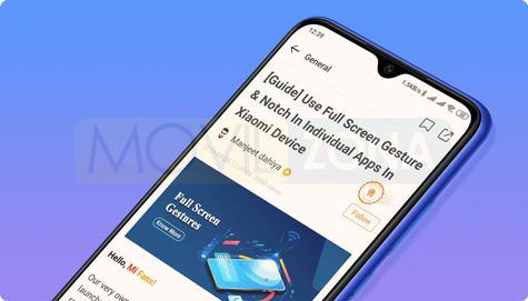 Redmi Note 8T diseño