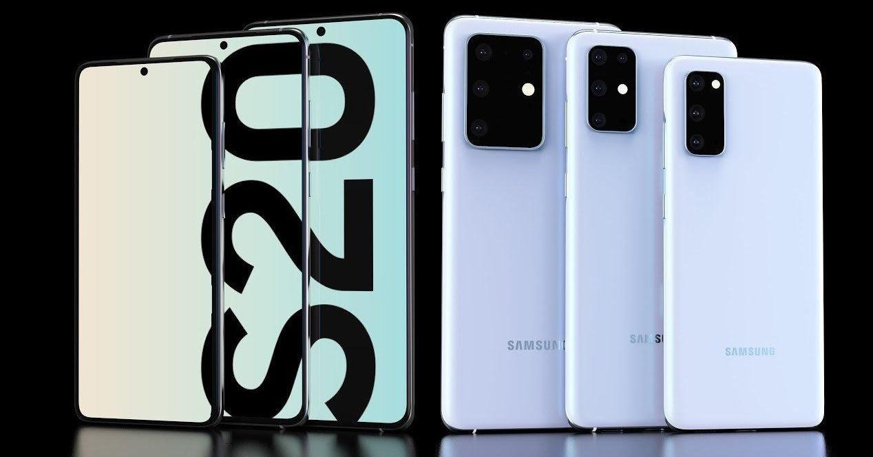 Samsung Galaxy S20 concept blanco