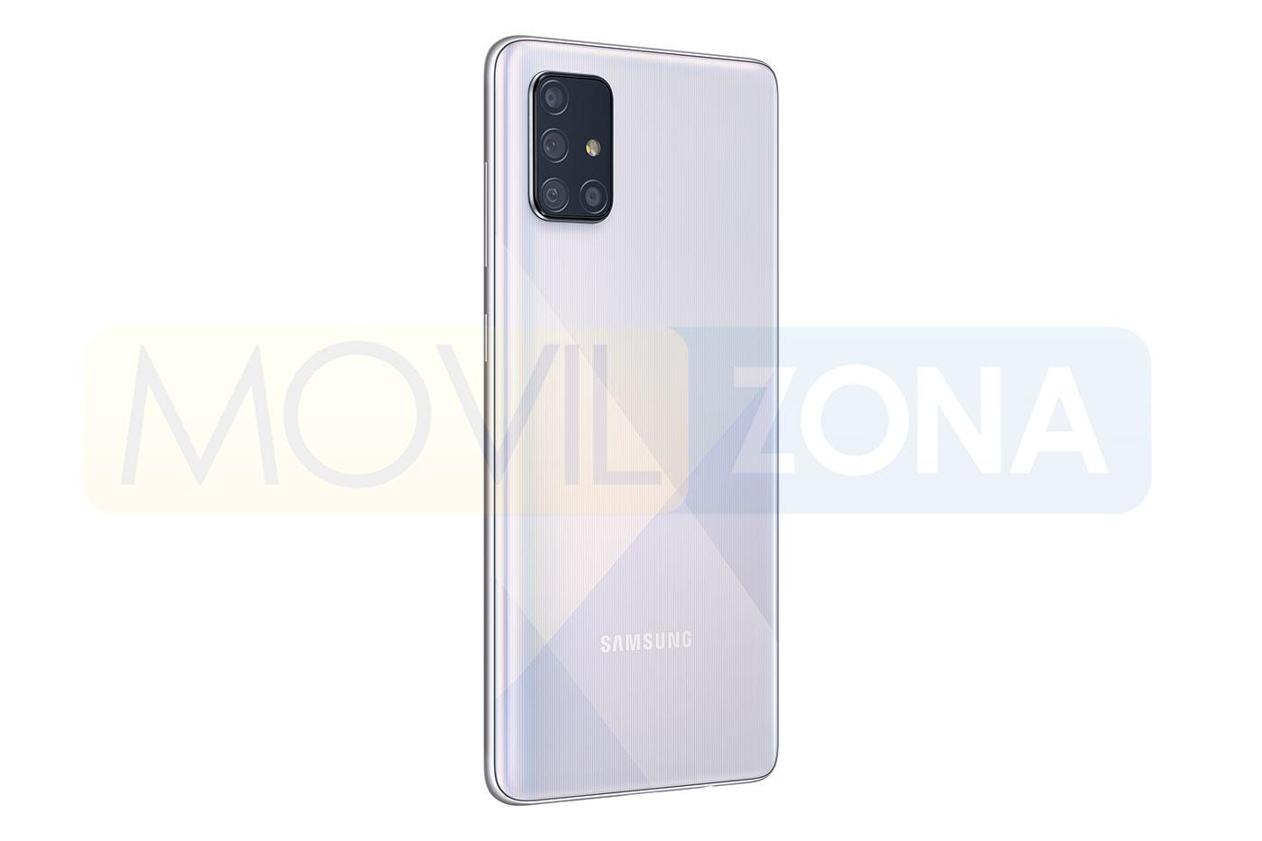 Samsung Galaxy A71 gris lateral