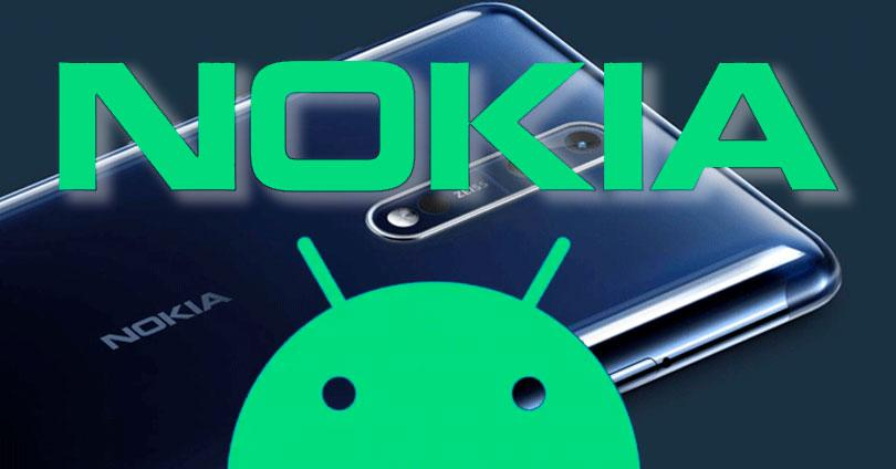 Nokia con logotipo de Android