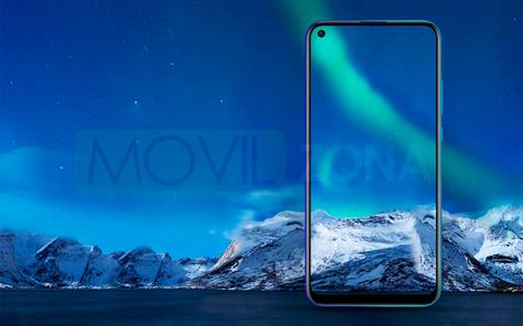 Honor Play 3 pantalla fondo azul
