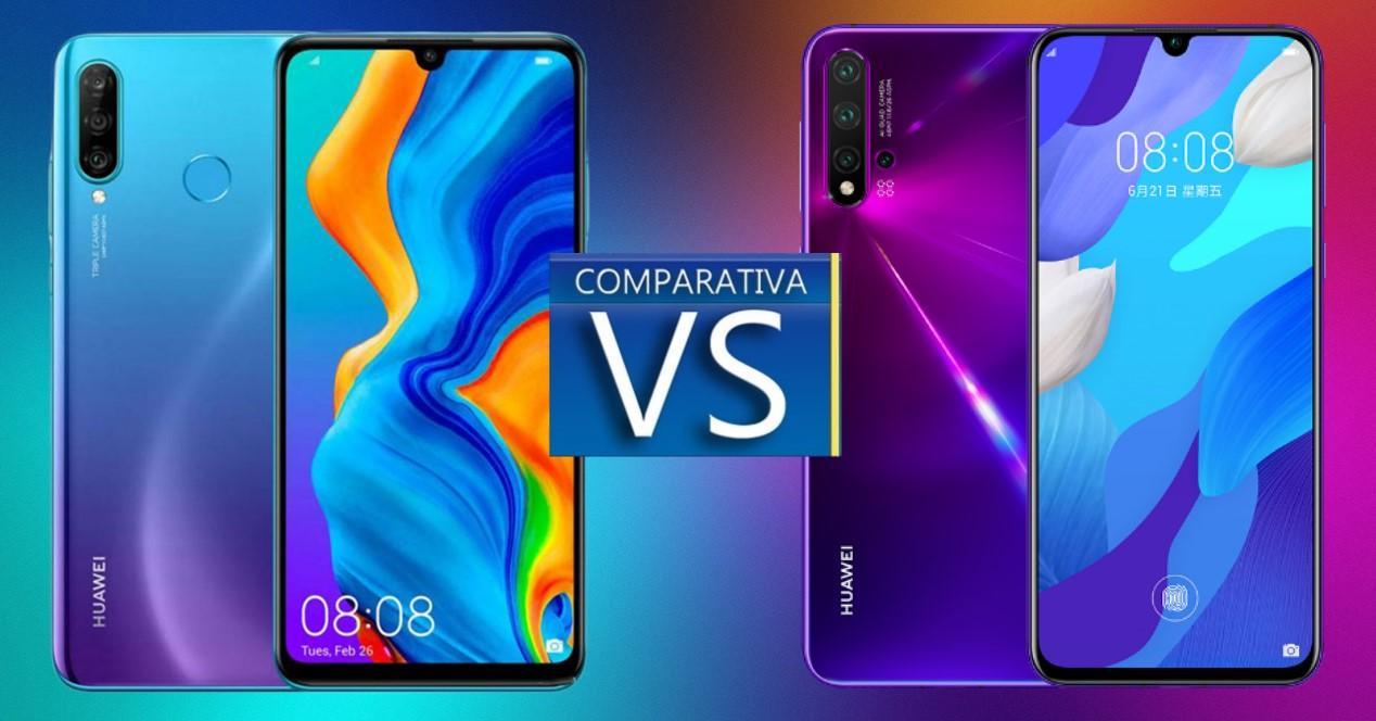 Huawei P30 Lite vs Nova 5T