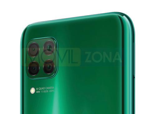 Huawei P40 Lite verde cámara